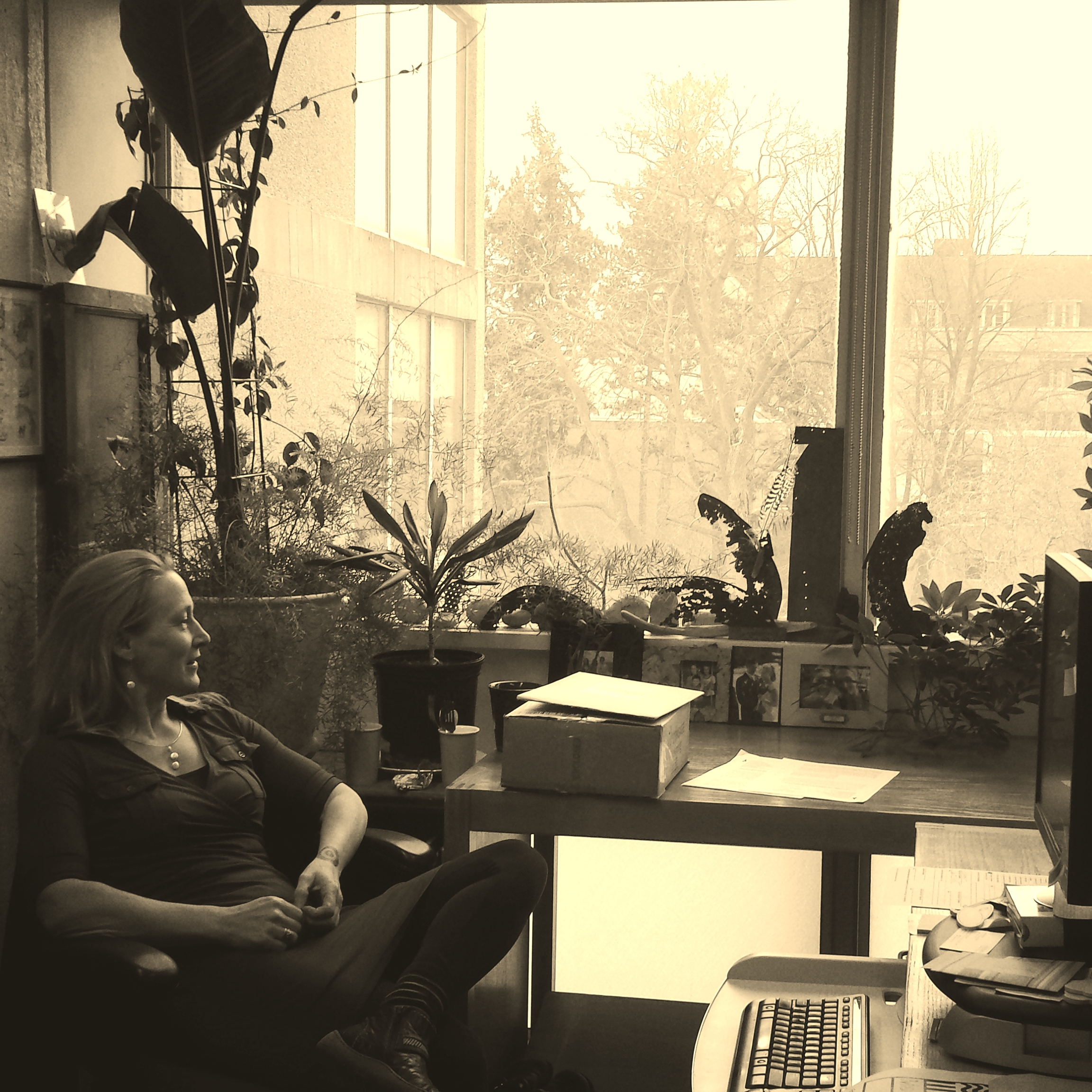 The author in her office at North House