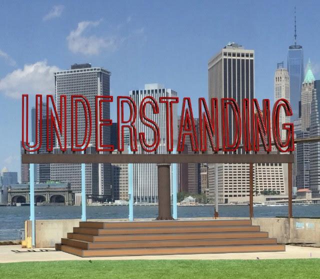 "Rendering of Martin Creed's forthcoming ""Understanding"" installation in Brooklyn Bridge Park."