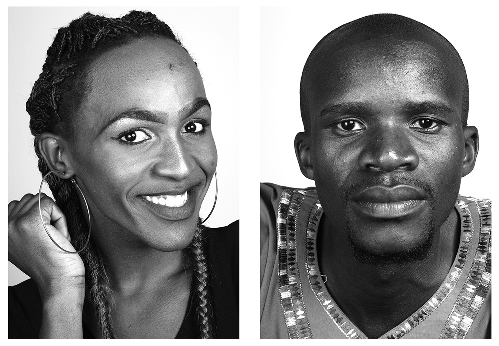 Two portraits from the pop-up studio