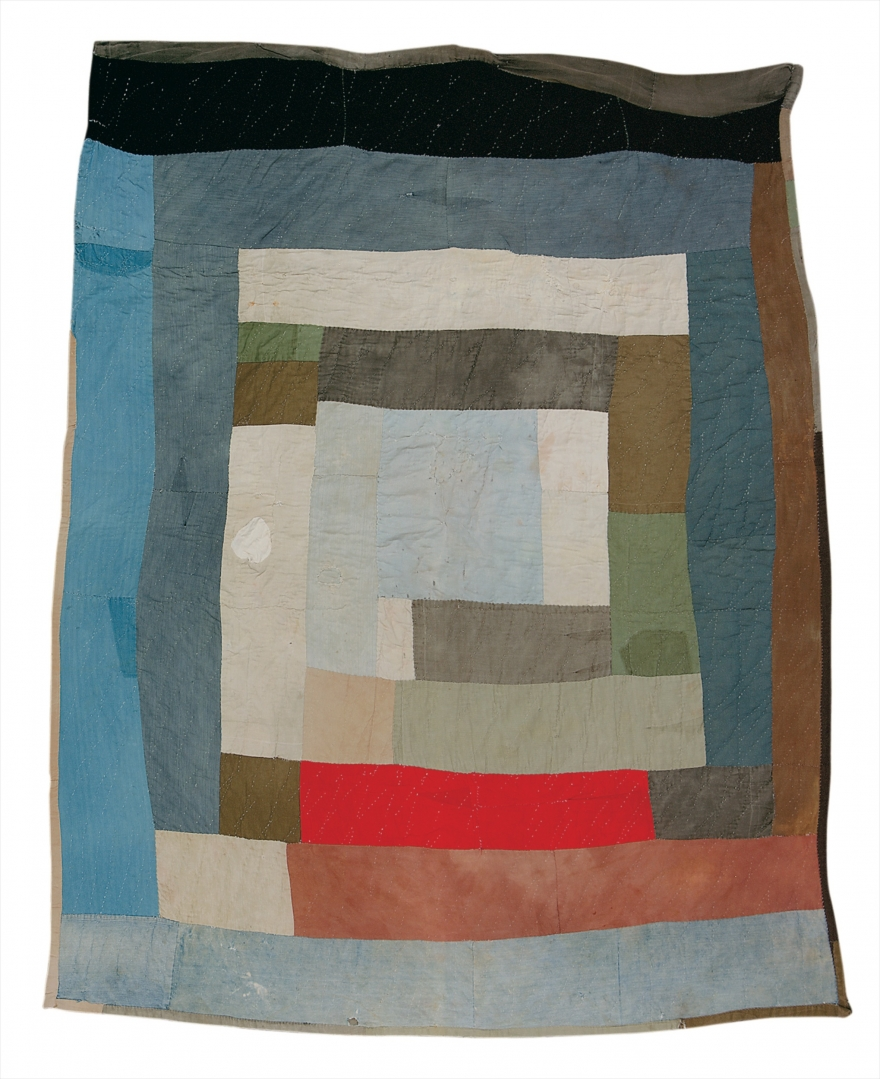 Loretta Pettway, Two-Sided Work-Clothes Quilt: Bars and BlocksCourtesy of the artist and the William S. Arnett Collection of Souls Grown Deep Foundation. © Estate of Thornton Dial. Photo by Stephen Pitkin/Pitkin Studio.