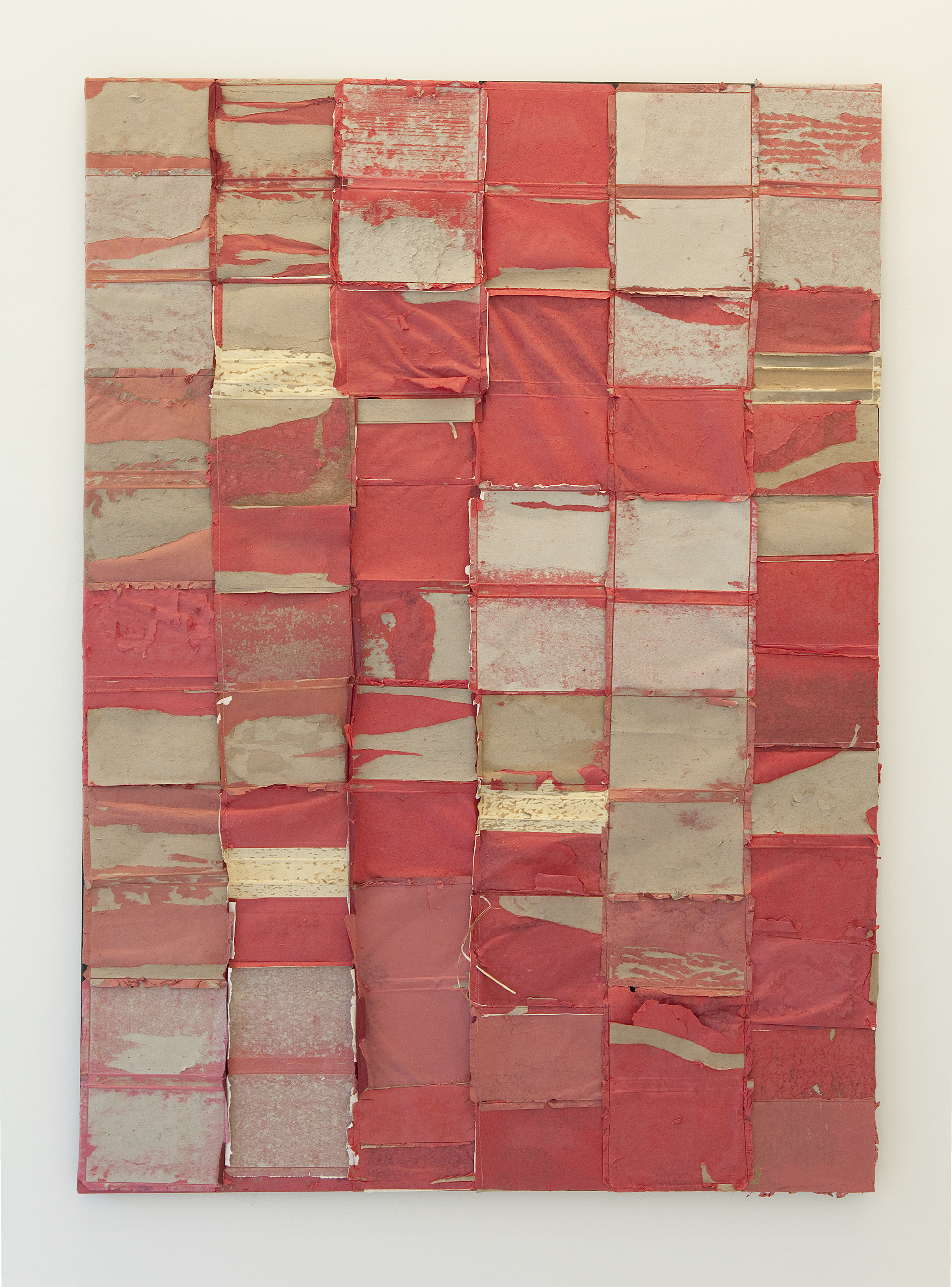 """Samuel Levi Jones, Bad Practice, 2014. Deconstructed Encyclopedias, wood on canvas. 85"""" x 61"""" Courtesy of the artist and PATRON Gallery, Chicago."""