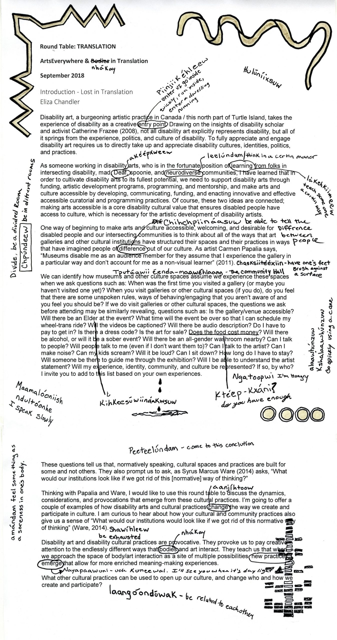 Vanessa Dion Fletcher's annotated vresion of Eliza Chandler's introduction