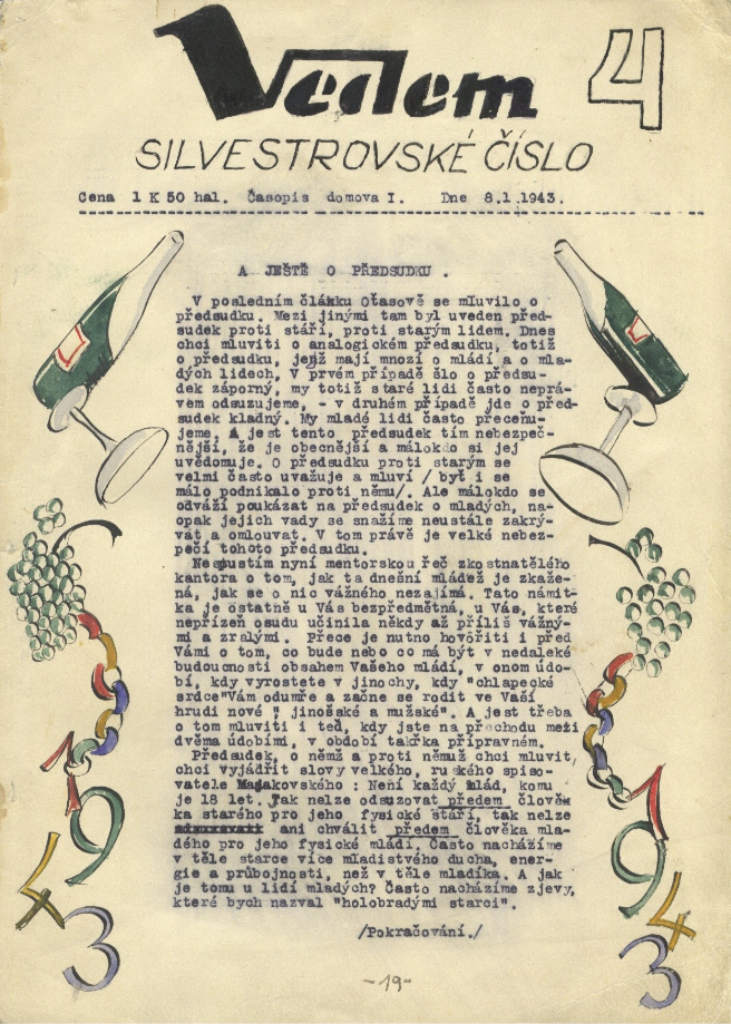 Page from Vedem 4 circa 1943
