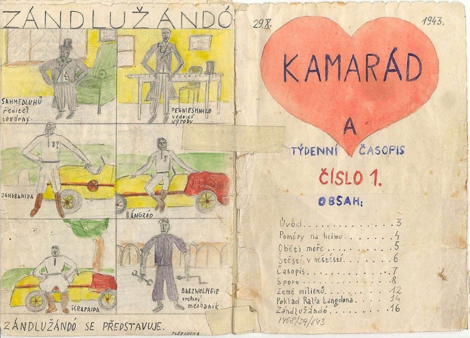 Front and back cover of a Kamarada zine.