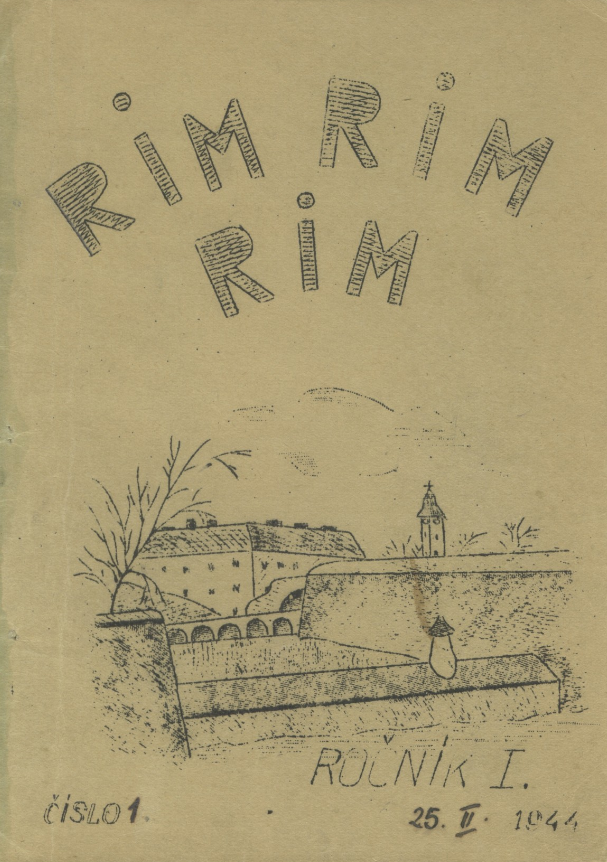 Hand-drawn cover of an issue of Rim Rim Rim