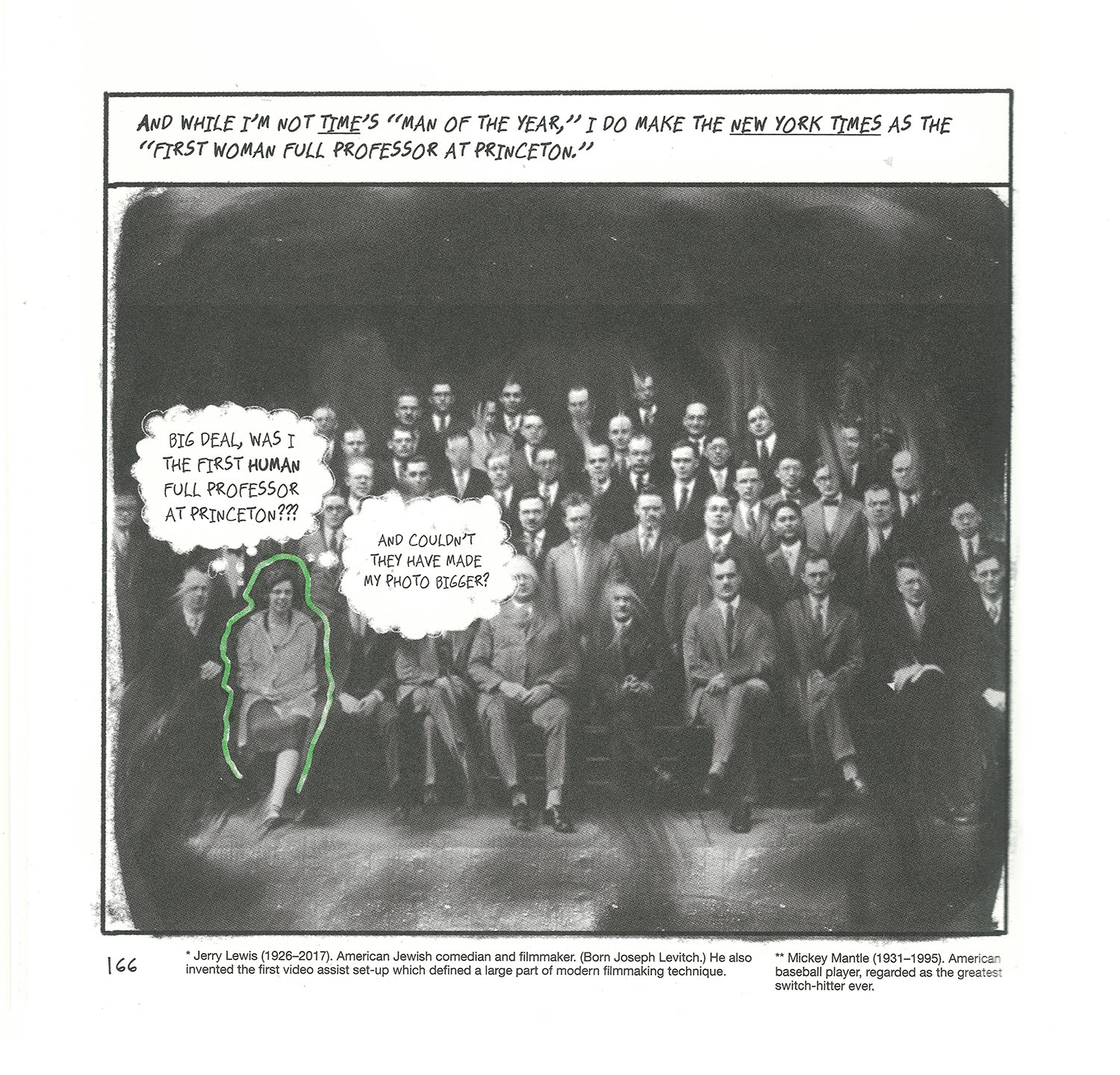 Photo of Princeton faculty, with Arendt outlined in green.