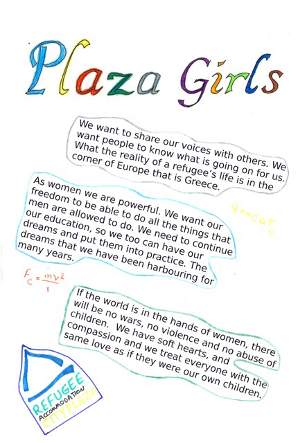 Page of the Plaza Girls zine