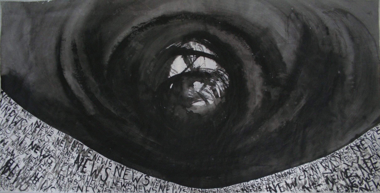 painting of black vortex