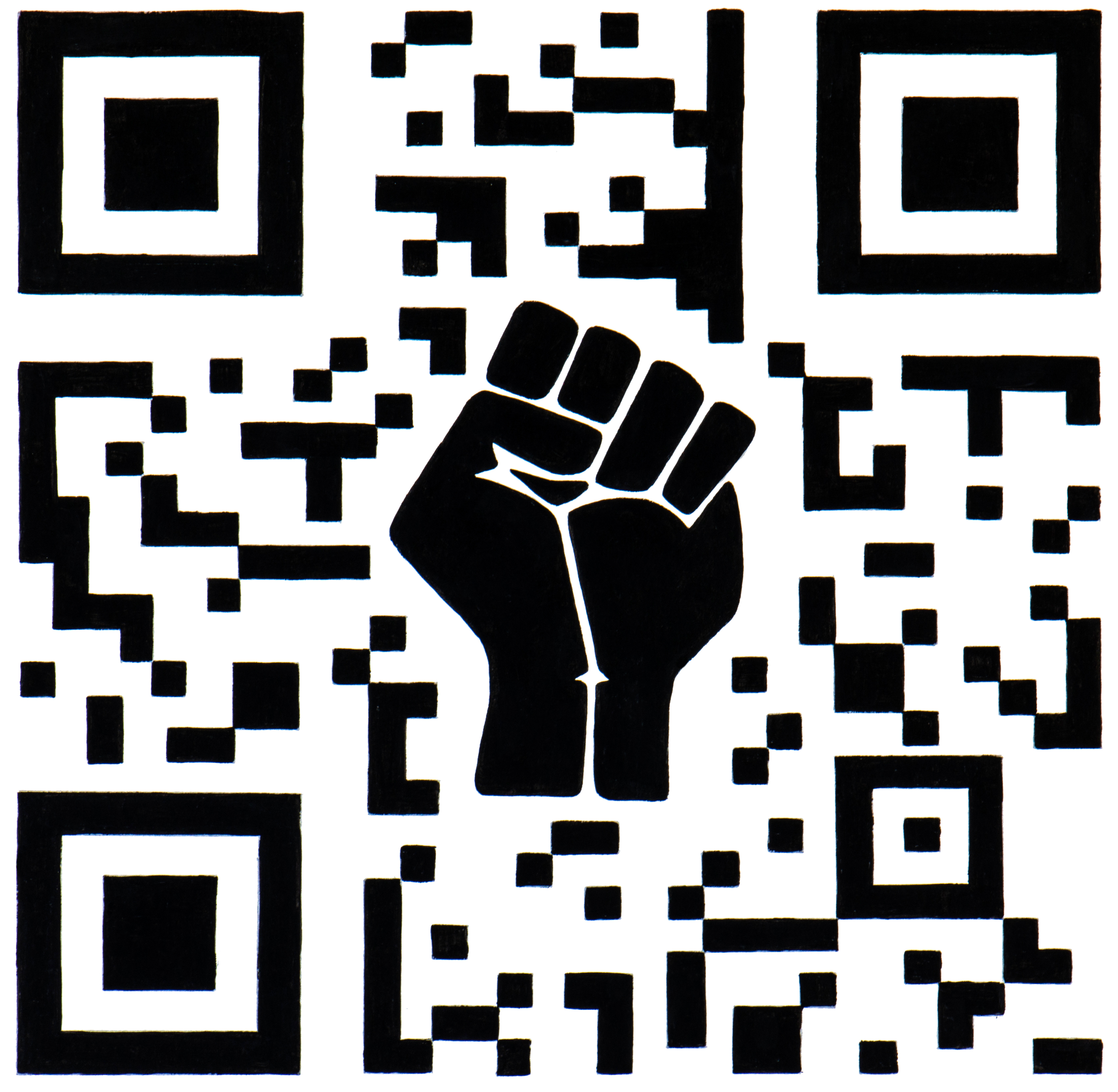QR Code illustration with BLM fist