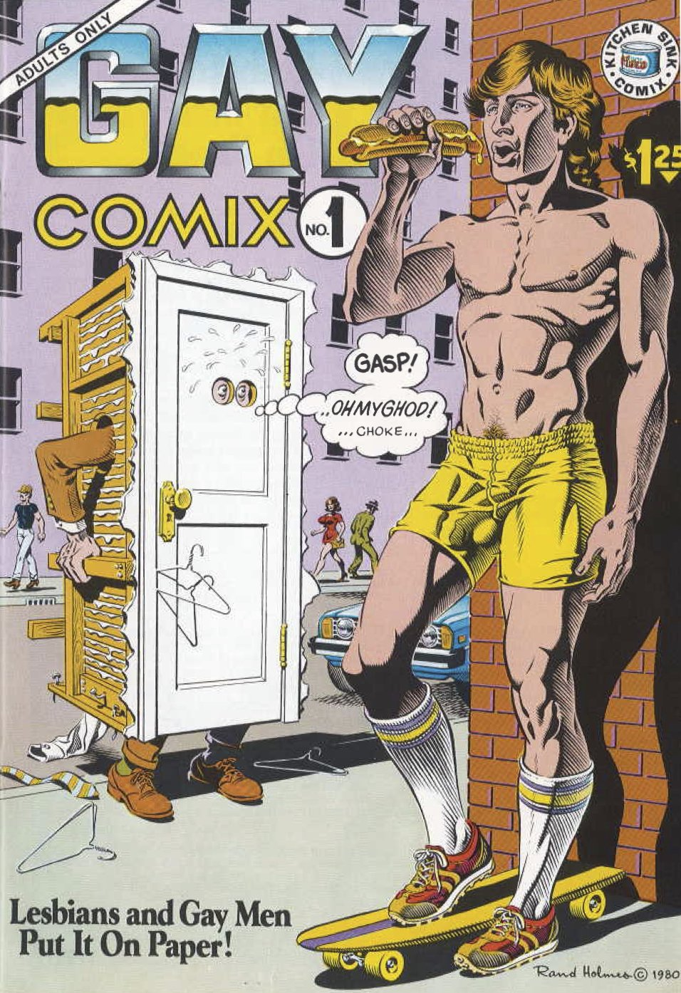 """Cover art for issue one of """"Gay Comix"""""""