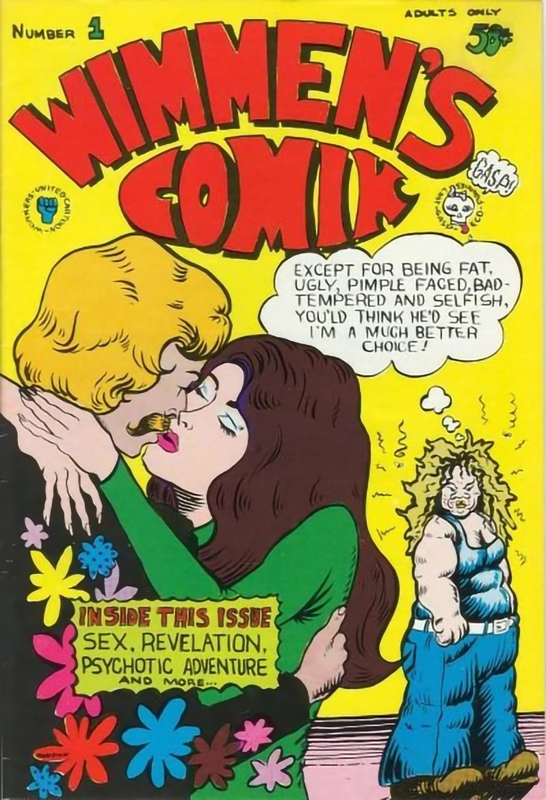 """Cover art for issue one of """"Wimmen's Comix"""""""