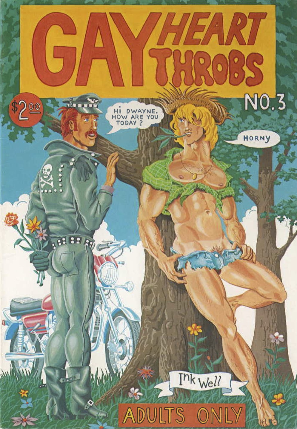 """Cover art for issue three of """"Gay Heart Throbs"""""""